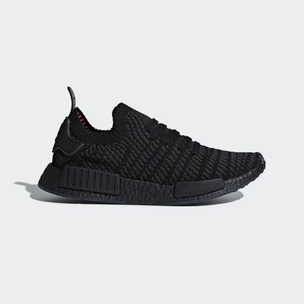 0efd2c656 NMD R1 STLT Primeknit Shoes Core Black   Utility Black   Solar Pink CQ2391