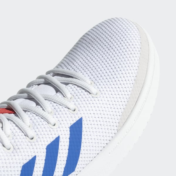 new concept ff845 52a70 B-Ball 80s Shoes Ftwr White  Blue  Scarlet B44835