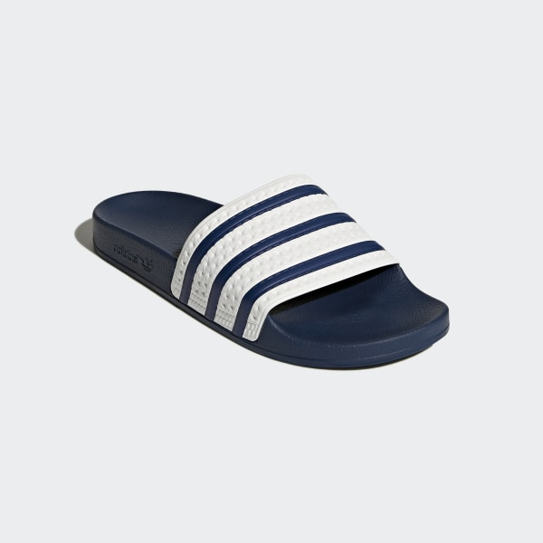 ce02802b3 Adilette Slides adiblue   White   Adi Blue G16220