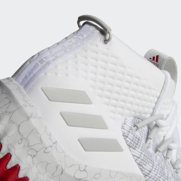 89bec10cb291 Dame 4 Shoes Ftwr White Grey Two Scarlet CQ0471