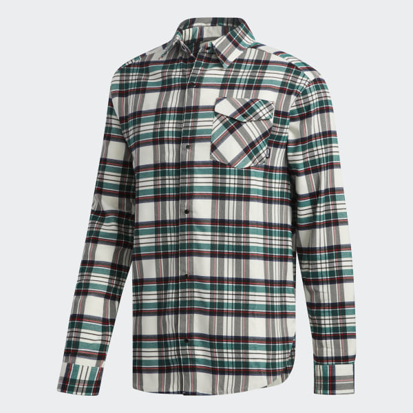 b39453409afe Tartan Flannel Shirt Multicolor Off White Black Collegiate Green Night  Indigo CE1809