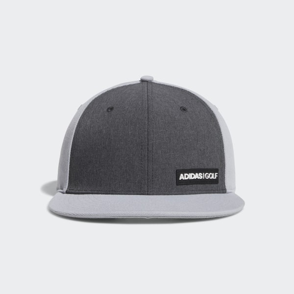 adidas Heathered Flat-Bill Hat - Grey  018a5f042ca0