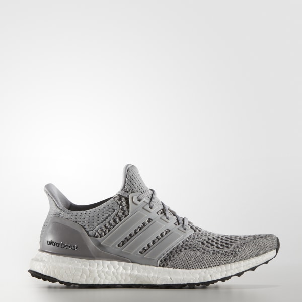 8b581947c0e UltraBOOST Shoes Grey   Silver Metallic   Solar Red S77515