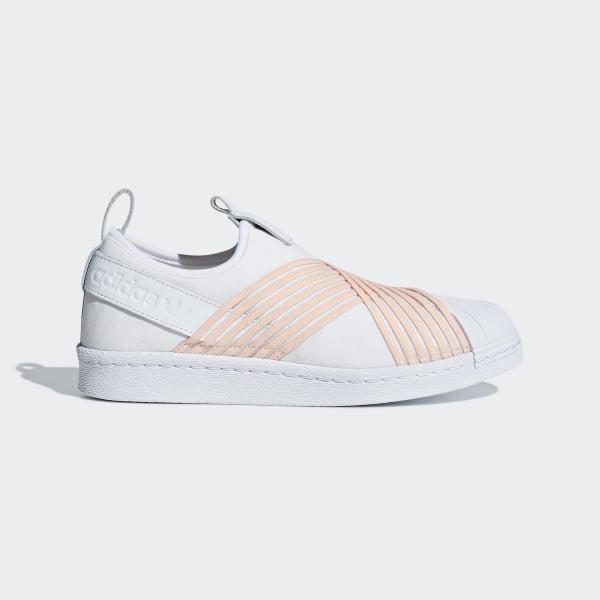 online retailer f91ea d6018 Chaussure Superstar Slip-on Ftwr White  Clear Orange  Ftwr White D96704