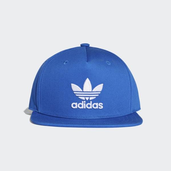 Boné Snap-Back Trefoil - Azul adidas  26e78fe1b98
