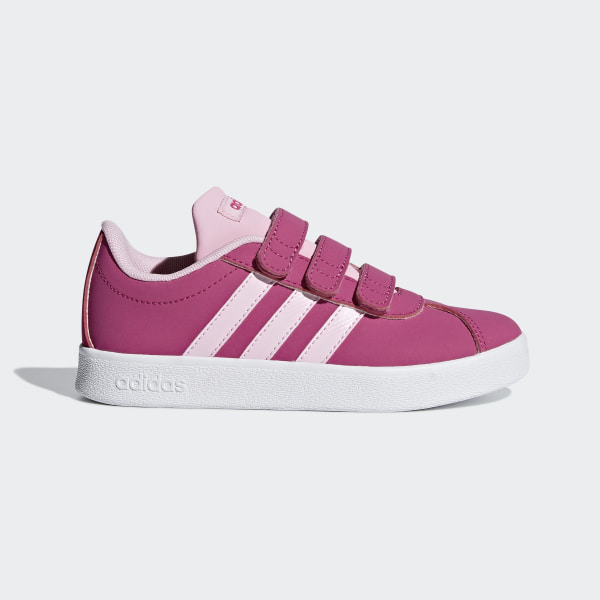new style f2ccc f556f VL Court 2.0 Schuh Real Magenta  True Pink  Ftwr White F36394