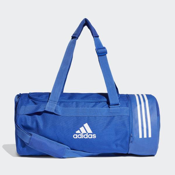 67abeacfa179 Convertible 3-Stripes Duffel Bag Medium Bold Blue   White   White DT8657
