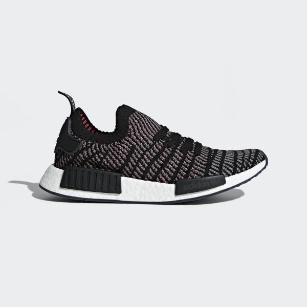 separation shoes e0ac2 2632c Scarpe NMD R1 STLT Primeknit Core Black   Grey Four   Solar Pink CQ2386