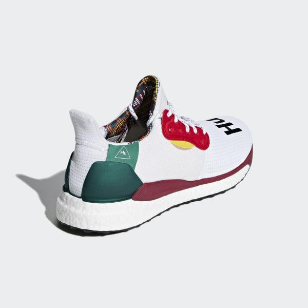 f899dd1bf53a7 Chaussure Pharrell Williams x adidas Solar Hu Glide Ftwr White   Core Black    Bold Green