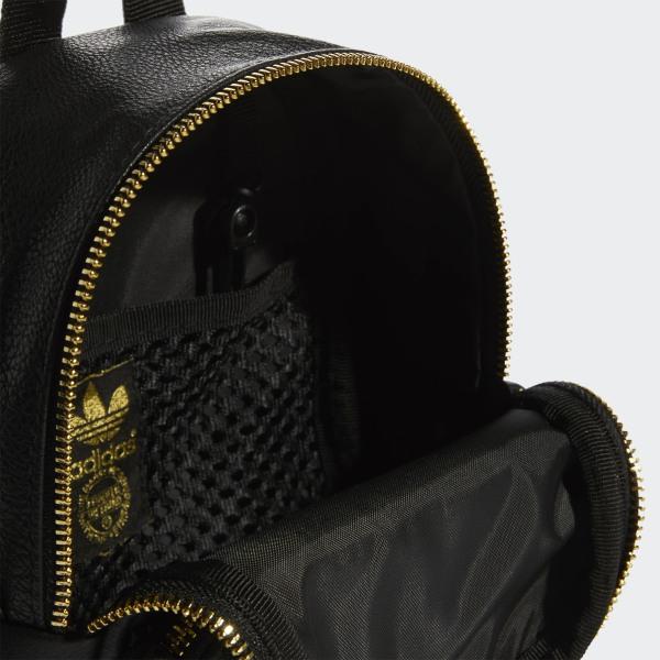 90f5d08094b9 adidas Faux Leather Mini Backpack - Black