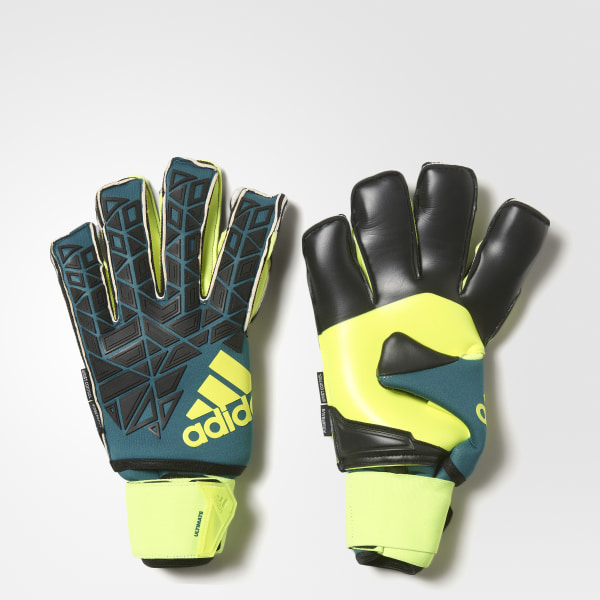 64ab3befa1f2 ACE Ultimate Goalkeeper Gloves Green   Black   Solar Yellow AP6990