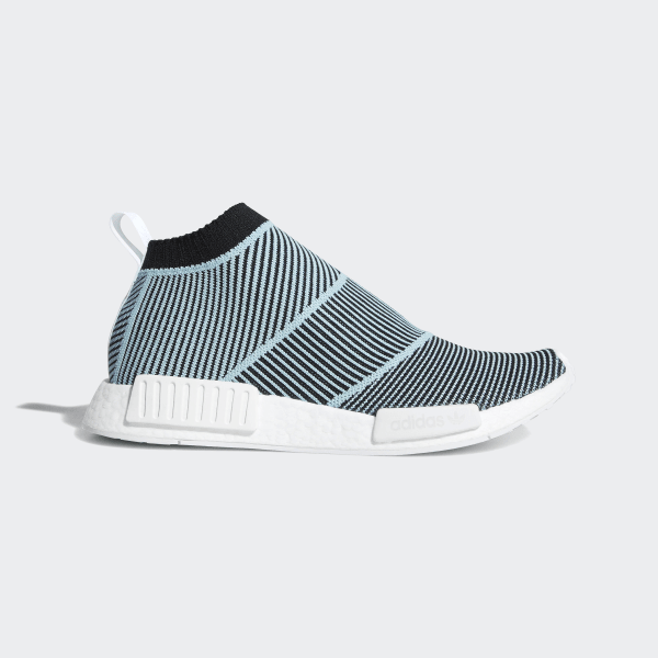 9a5eb8fdc1eb6 NMD CS1 Parley Primeknit Shoes Core Black   Core Black   Blue Spirit  AC8597. Share how you wear it.  adidas