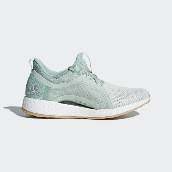 b996c5c85482b Pureboost X Clima Shoes Ash Green   Silver Metallic   Running White BB6090