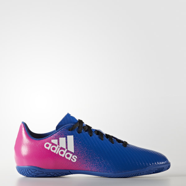 Chuteira Infantil X 16.4 - Futsal BLUE FTWR WHITE SHOCK PINK BB5730 eae2f5aea82a3