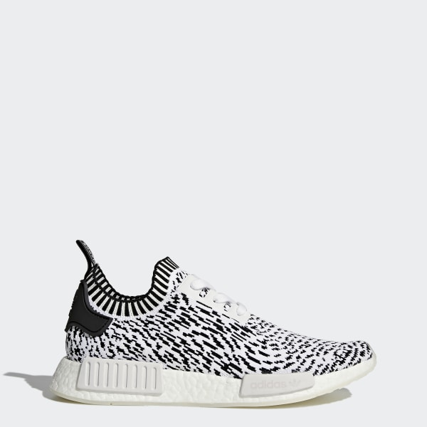 12e2477e5a4 NMD R1 Primeknit Shoes Footwear White Core Black BZ0219