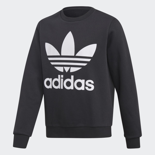 516d485acd99 Fleece Crew Sweatshirt Black   White DH2705
