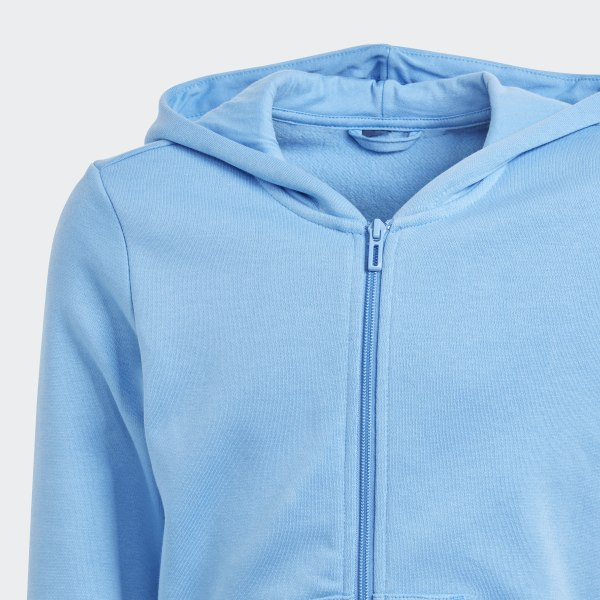 adidas Essentials Linear Kapuzenjacke blau | adidas Switzerland
