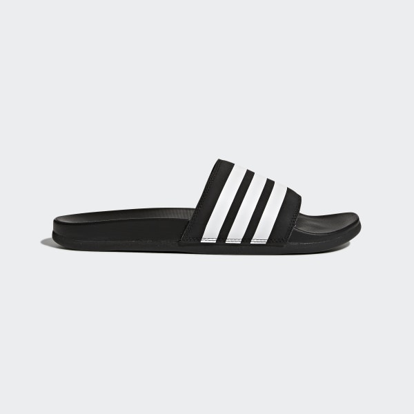 Adilette Cloudfoam Plus Stripes Slides Core Black   Cloud White   Core Black  AP9971 25609a8b0
