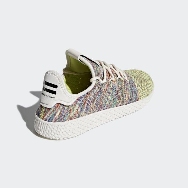 35a4989d9bfd8 Pharrell Williams Tennis Hu Primeknit Shoes Multi Chalk White Core Black  CQ2631
