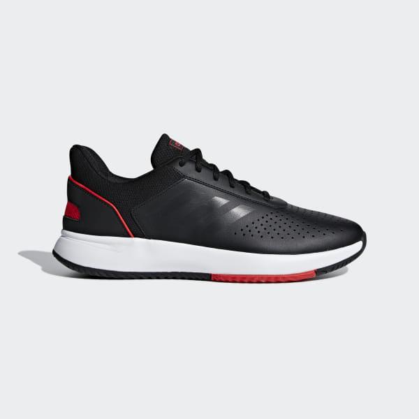 30d02d57fcb Courtsmash Shoes Core Black   Grey Six   Active Red F36716
