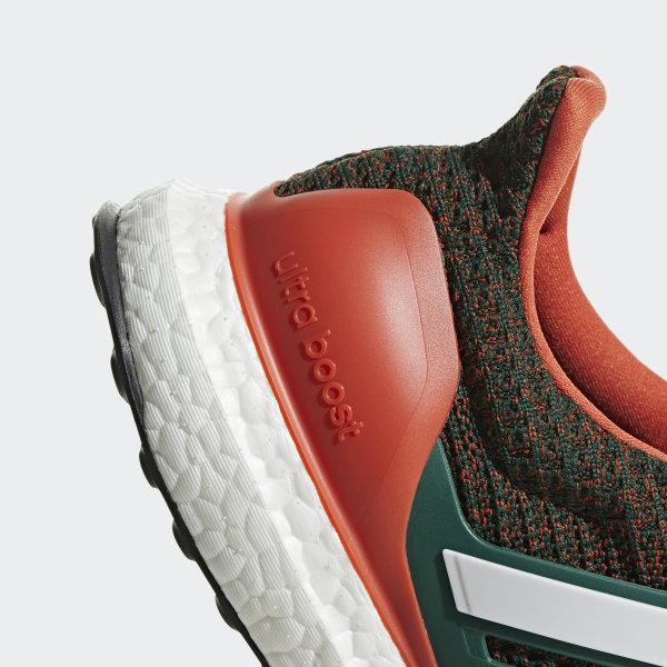 077ce37aea9ac Ultraboost Shoes Dark Green   Cloud White   Collegiate Orange EE3702