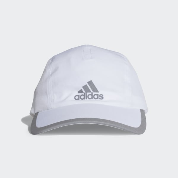 ce27c126a99 Climalite Running Cap White   White   Reflective Silver CF9629