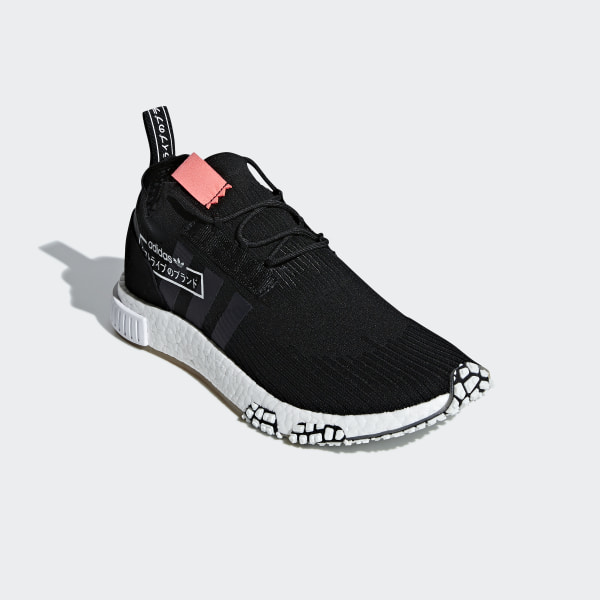 31d6563834524 NMD Racer Primeknit Shoes Core Black   Core Black   Flash Red BB7041