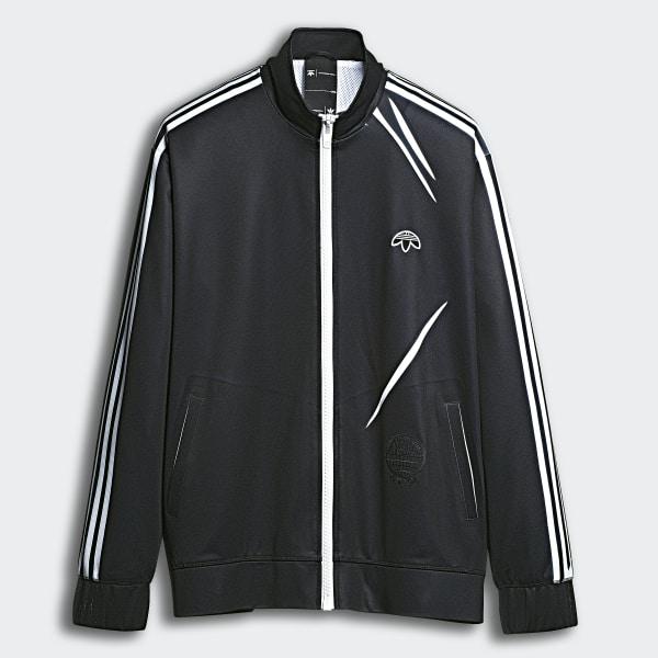 2ba06d00aa6 adidas Originals by Alexander Wang Track Jacket Black White Bold Orange  DM9863
