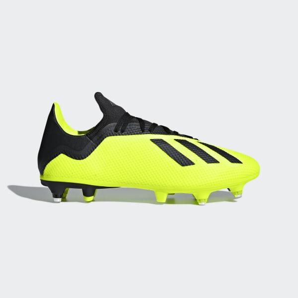 best loved d6a4d ba82e Bota de fútbol X 18.3 césped natural húmedo Solar Yellow  Core Black   Ftwr White
