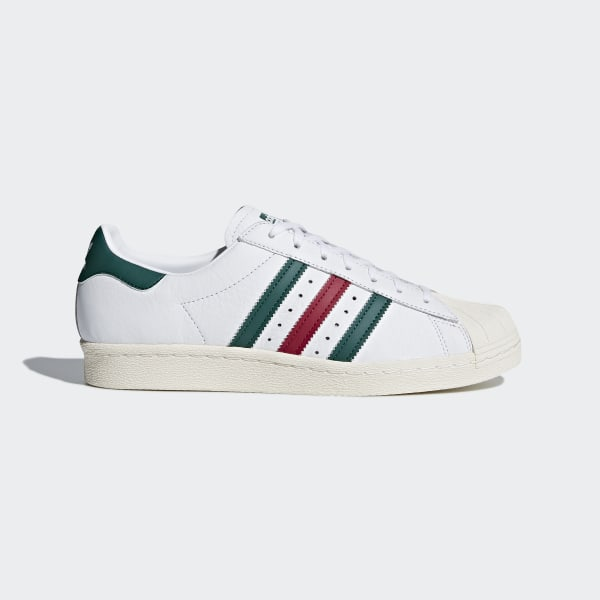 big sale dd80f 1e3ca Zapatillas Superstar 80s FTWR WHITE COLLEGIATE GREEN MYSTERY RUBY F17 CQ2654