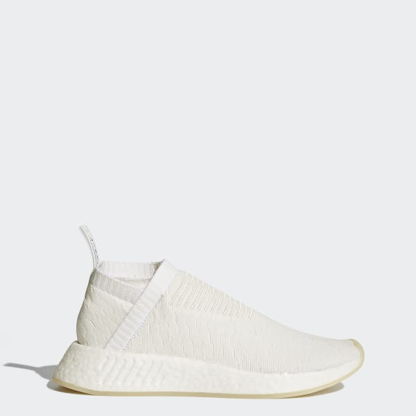 7772bea000759 NMD CS2 Primeknit Shoes Core White   Core White   Cloud White BY3018