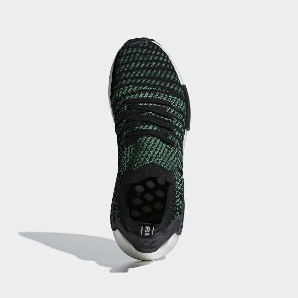 3eac7c00b NMD R1 STLT Primeknit Shoes Noble Green   Core Black   Bold Green AQ0936