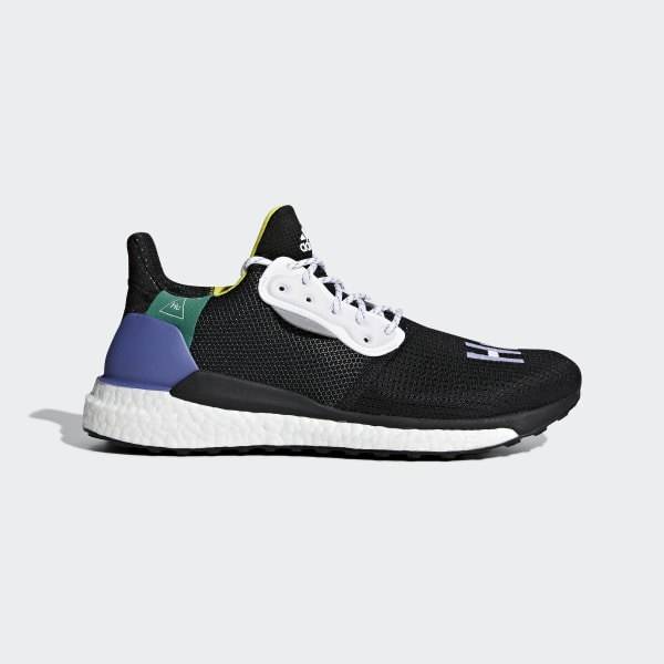 e905504a7 Pharrell Williams x adidas Solar Hu Glide Shoes Cloud White   Core Black    Bold Green