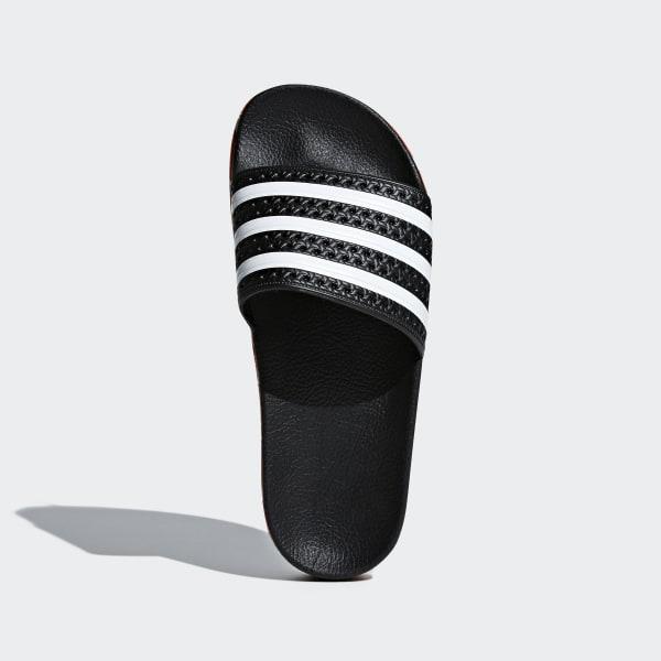 1772988a3f2a11 Adilette New Bold Sandals Core Black   Ftwr White   Core Black AQ1124
