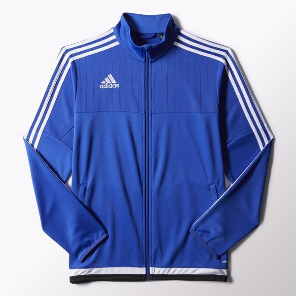 adidas Men s Tiro 15 Training Jacket - Blue  4d2e9afcfe89