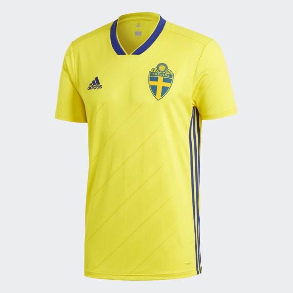 9d314068cc188 Camiseta Oficial Selección de Suecia Local 2018 YELLOW MYSTERY INK F17  BR3838