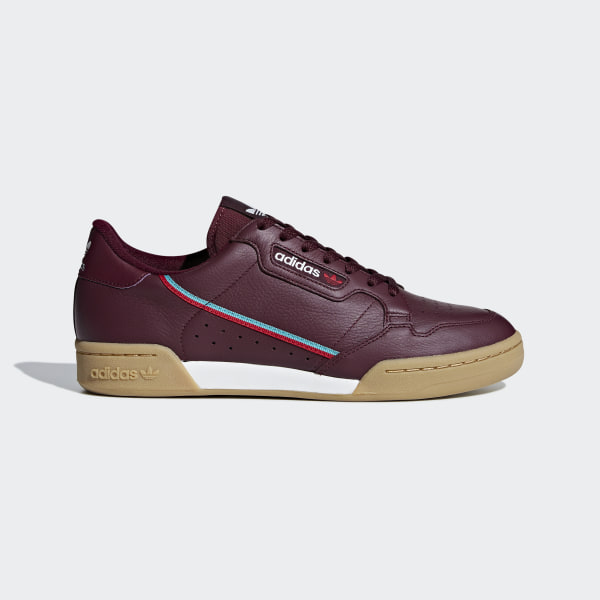 6fbb92f2fd705 Chaussure Continental 80 Collegiate Burgundy   Scarlet   Hi-Res Aqua B41677