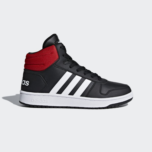 timeless design b5c2e d549b Hoops 2.0 Mid Shoes Core Black  Cloud White  Bright Blue DB1483