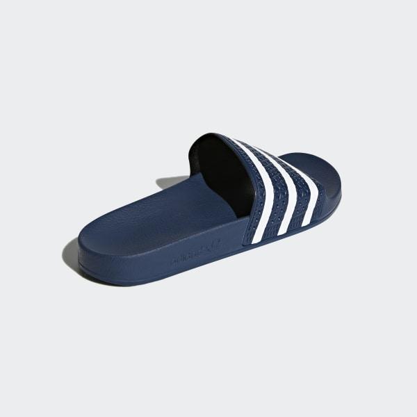 087ee3c4b6f3a0 Adilette Slides Adi Blue   White   Adi Blue 288022
