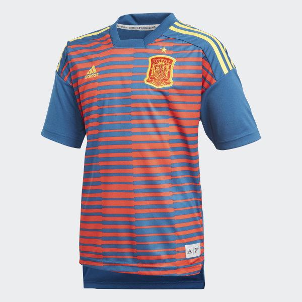 Camiseta calentamiento España Red Tribe Blue CF1563 f639984d0999e