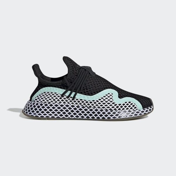 cb9a5e6b24549 Deerupt S Runner Shoes Core Black   Ftwr White   Clear Mint CG6086