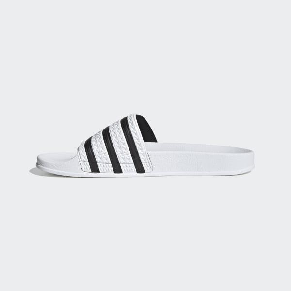 75bd65ce3 Adilette Slides White   Core Black   White 280648