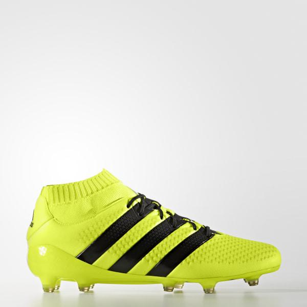 Botines de fútbol suelo firme ACE 16.1 PRIMEKNIT SOLAR YELLOW CORE  BLACK SILVER MET. Mostrá como lo llevás.  adidas f4a0d5c15e275