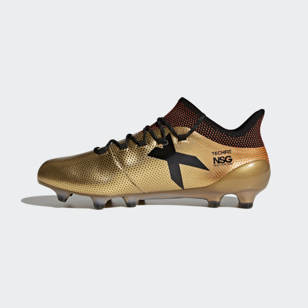 X 17.1 Firm Ground Boots Tactile Gold Met. Core Black Solar Red BB6353 7a3440c5186