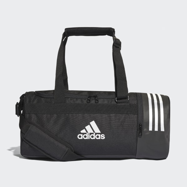 ca0996564f39 Convertible 3-Stripes Duffel Bag Small Black   White   White CG1532