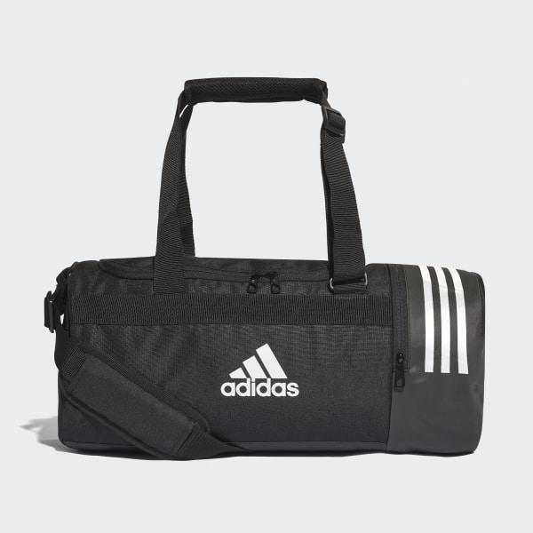 96db8ed491 Convertible 3-Stripes Duffel Bag Small Black   White   White CG1532