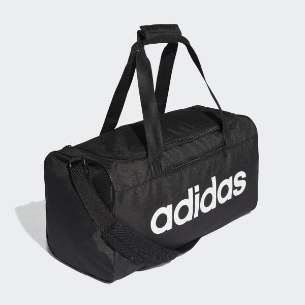 Linear Core Duffel Bag Small Black   Black   White DT4826 a4db81a8bc875