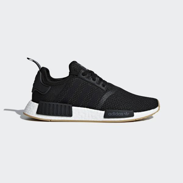 1745a8a4483a NMD R1 Shoes Core Black   Core Black   Gum 3 B42200