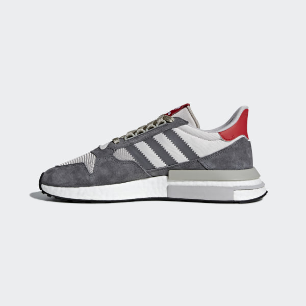 8ad8dbba63879 ZX 500 RM Shoes Grey Four   Cloud White   Scarlet B42204