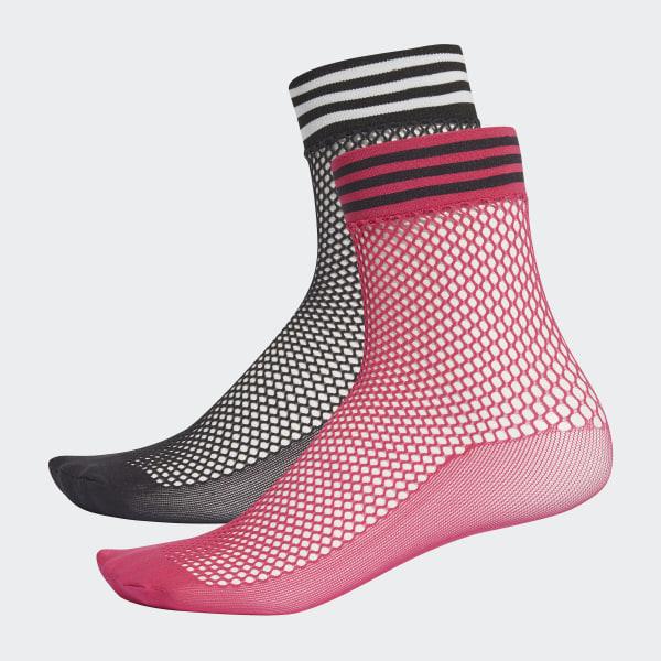 b4cf725741e Ponožky Liner Mesh - 2 páry Black   Shock Pink DH4394